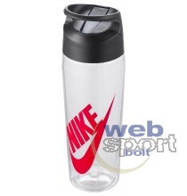 NIKE TR HYPERCHARGE STRAW BOTTLE GRAPHIC 24 OZ CLEAR/ANTHRACITE/UNIVERSITY RED