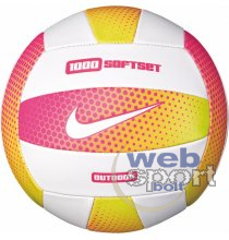NIKE 1000 SOFTSET OUTDOOR VOLLEYBALL 18P 05 HYPER PINK/WHITE/HYPERPINK/WHITE