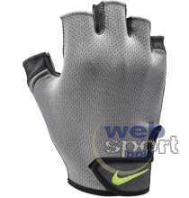 NIKE MENS ESSENTIAL FITNESS GLOVES COOL GREY/ANTHRACITE/VOLT